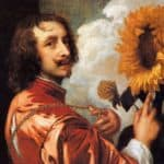 Self portrait with a Sunflower – Anthony van Dyck