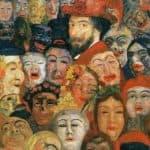 Self-Portrait With Masks - James Ensor