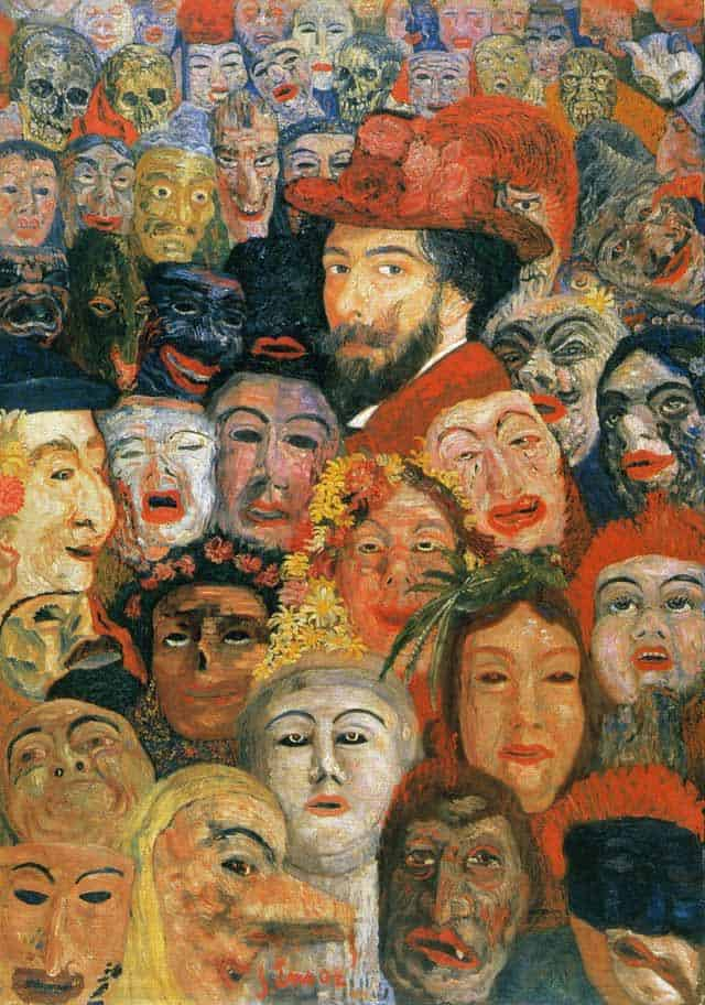 Self-Portrait With Masks - James Ensor