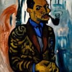 Self-Portrait with Pipe – William H. Johnson