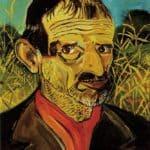 Self-Portrait with red scarf – Antonio Ligabue