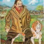 Self-Portrait  with dog – Antonio Ligabue