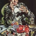 Self Portrait Drinking – Ivan Albright