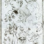 Sheet of caricatures – Annibale Carracci