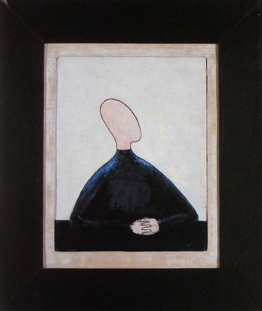 Sitting Figure with Folded Hands - Meret Oppenheim