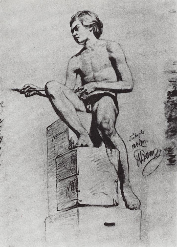 Sitting Model - Ilya Repin