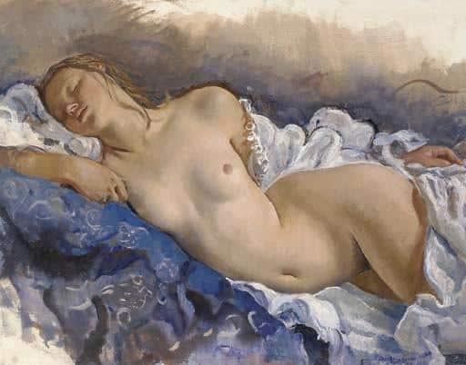 Sleeping Nude - Zinaida Serebriakova