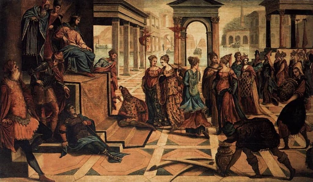 Solomon and the Queen of Sheba - Hans Holbein the Younger