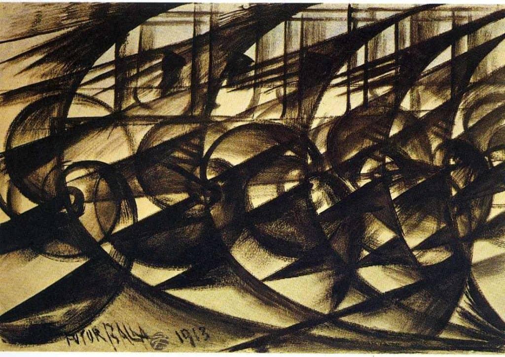 Speeding Car (Study). Abstract Speed. - Giacomo Balla