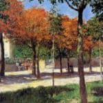 Square in Argenteuil – Gustave Caillebotte
