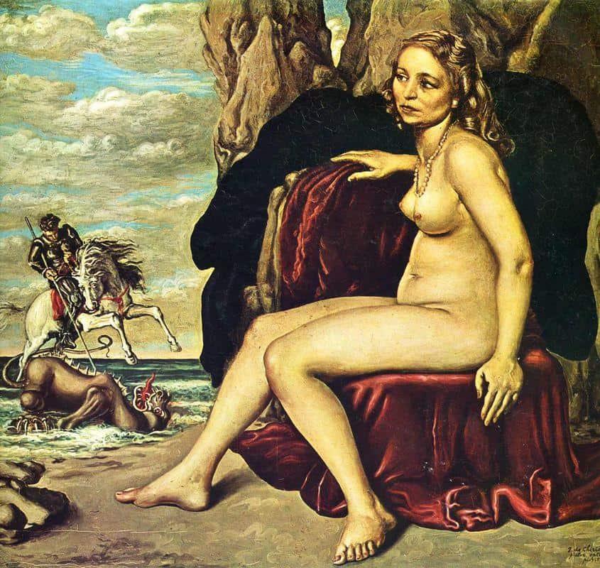 St. George Killing the Dragon - Giorgio de Chirico