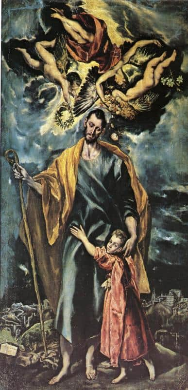 St. Joseph And The Christ Child - El Greco