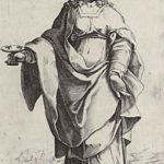 "St. Lucia, from the episode ""Holy Women"" – Agostino Carracci"