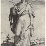 "St. Margaret, from the episode ""Holy Women"" – Agostino Carracci"