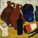 Still Life – Bottles, Jugs, Pitcher – William H. Johnson