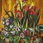 Still life with red gladioli – Pyotr Konchalovsky