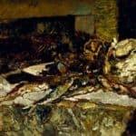 Still Life with Sardines and Sea-Urchins – Adolphe Joseph Thomas Monticelli