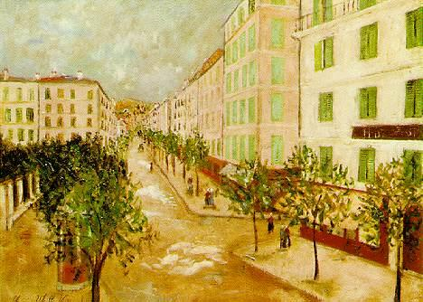 Street At Corte - Maurice Utrillo