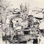 Studio Trolley with Paintbrushes – Avigdor Arikha