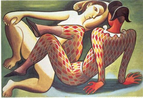 Study For A Theatre Decoration - Jose de Almada-Negreiros