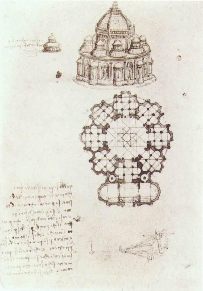 Study Of a Central Church - Leonardo da Vinci