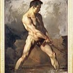 Study of a Male Nude – Theodore Gericault