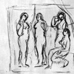 "Study to ""Girls from Avignon"" – Pablo Picasso"