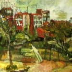 Suburban Landscape with Red Houses – Chaim Soutine
