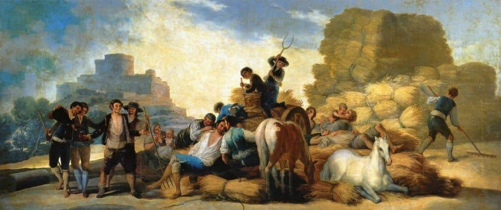 Summer, Or The Harvest - Francisco Goya