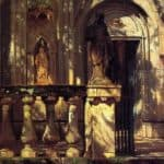 Sunlight and Shadow Study – Albert Bierstadt