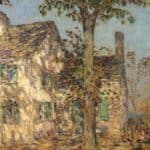 Sunlight on an Old House, Putnam – Childe Hassam