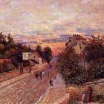 Sunset at Port Marly – Alfred Sisley