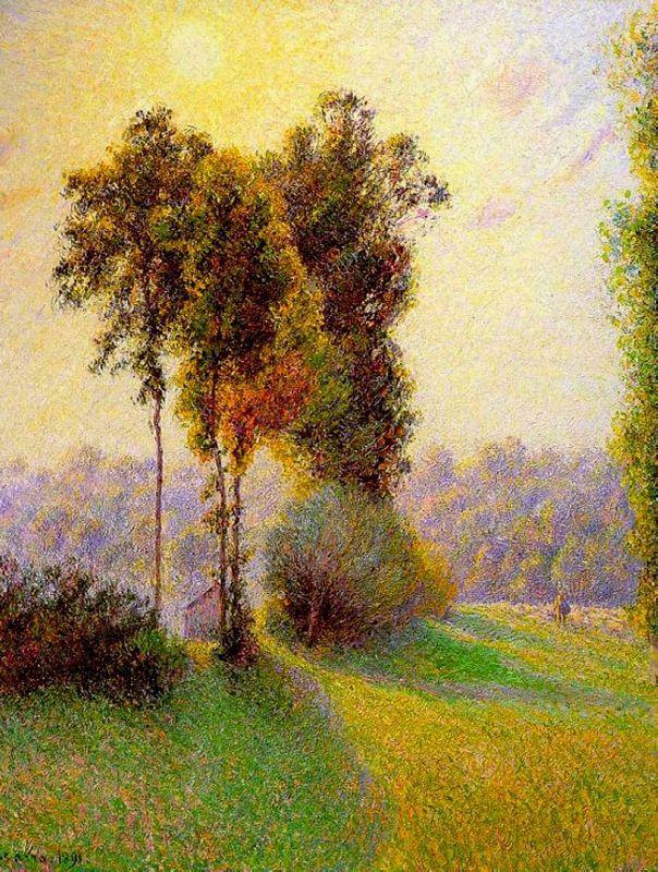 Sunset at Sent Charlez. Eragny - Camille Pissarro