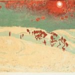 Sunset in a snowy landscape – Cuno Amiet