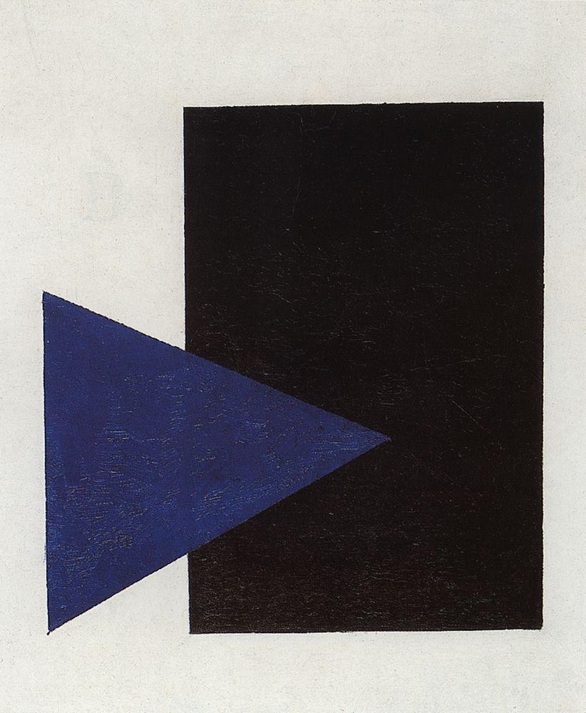 Suprematism With Blue Triangle And Black Square - Kazimir Malevich