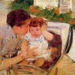 Susan Comforting the Baby (no.2) – Mary Cassatt