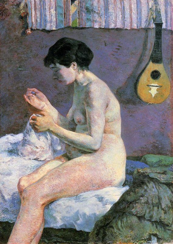 Suzanne Sewing - Study Of a Nude - Paul Gauguin