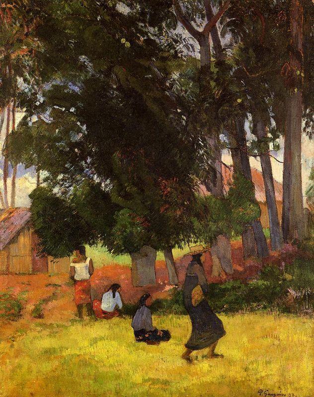 Tahitian Village - Paul Gauguin