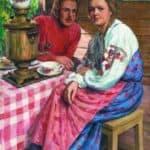 Tea-Drinking – Nikolay Bogdanov-Belsky
