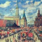 The 1st May Demonstration on The Red Square at 1929 – Konstantin Yuon
