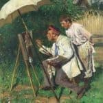 The artist and the apprentice – Vladimir Makovsky