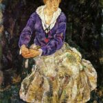 The Artist's wife seated – Egon Schiele