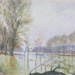 The Banks of the Seine in Autumn flood – Alfred Sisley