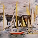 The Basin of Deauville  – Raoul Dufy