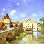 The Bridge at Moret – Alfred Sisley