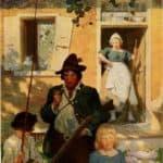 The caption reads – N.C. Wyeth