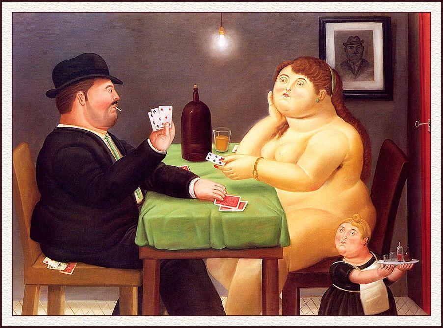 The Card Player - Fernando Botero