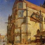 The Church at Moret in Morning Sun – Alfred Sisley