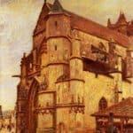 The Church at Moret, Rainy Morning – Alfred Sisley
