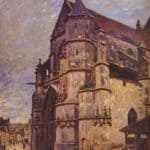The Church at Moret, Winter – Alfred Sisley